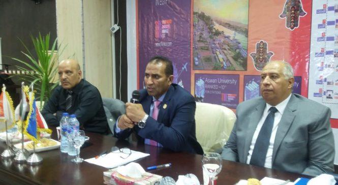 مجلس جامعة أسوان يناقش استعدادات العام الجامعي الجديد 2021/2020